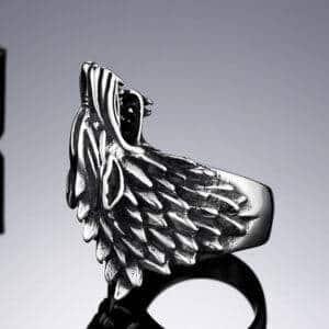 Bague viking homme loup