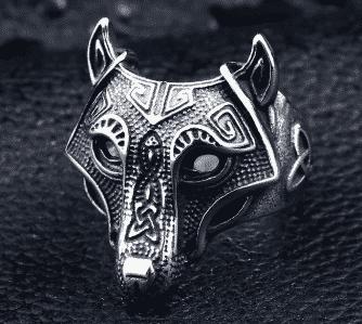 Bague viking loup