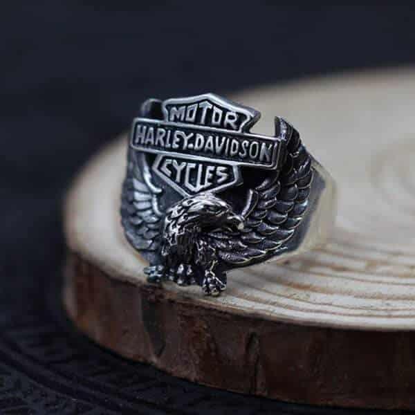 Bague motard Harley Davidson