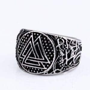 Bague viking triangles celtiques