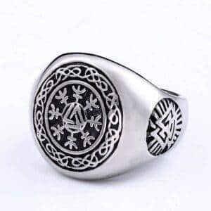 bague viking cercle odin