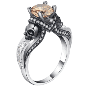 Bague biker femme orange