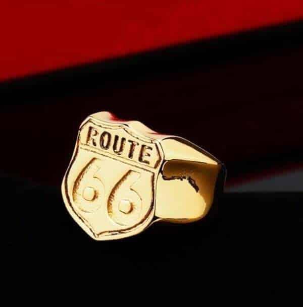 bague biker route 66