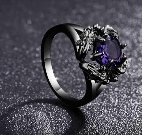 bague dragon femme violet