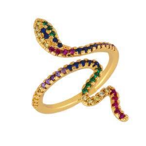 Bague serpent or femme