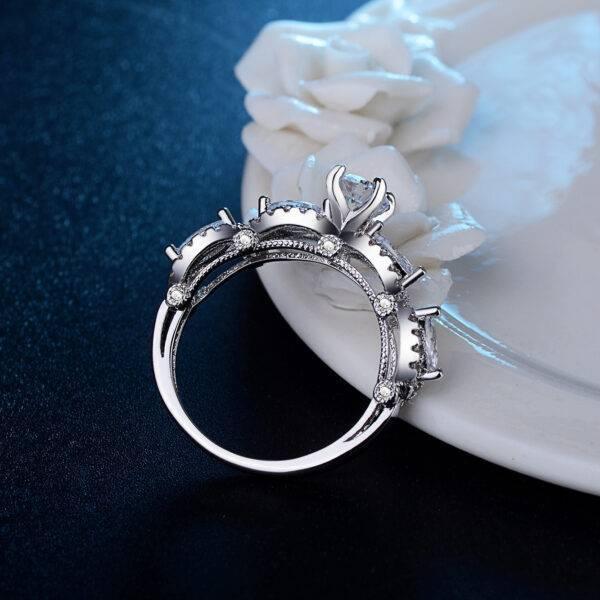 Bague de mariage fleur