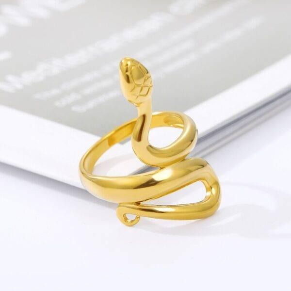 Bague serpent femme or