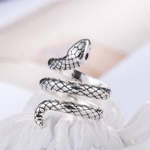 Bague serpent acier inoxydable
