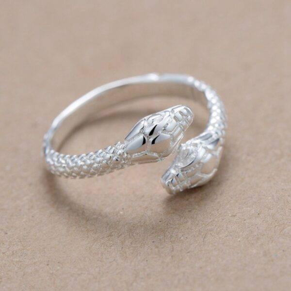 Bague serpent argent femme