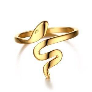Bague or serpent
