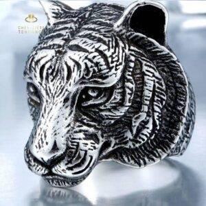 Bague homme tigre