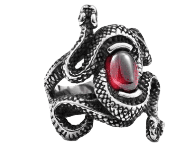 Bague serpent croisés