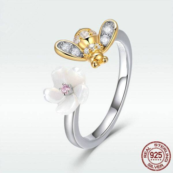 Bague abeille or