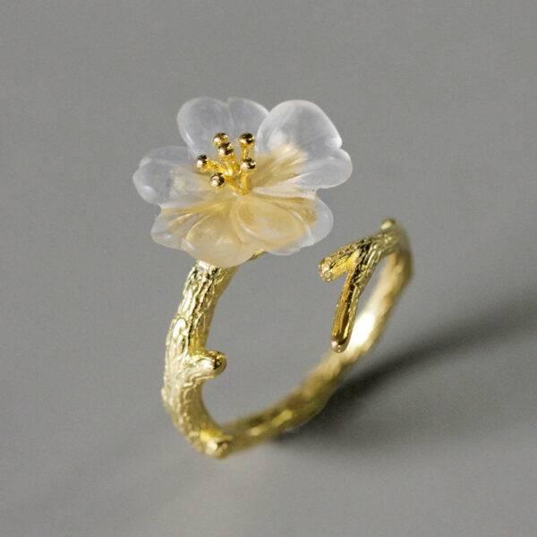 Bague fleur de lys or