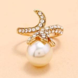 Bague avec perle