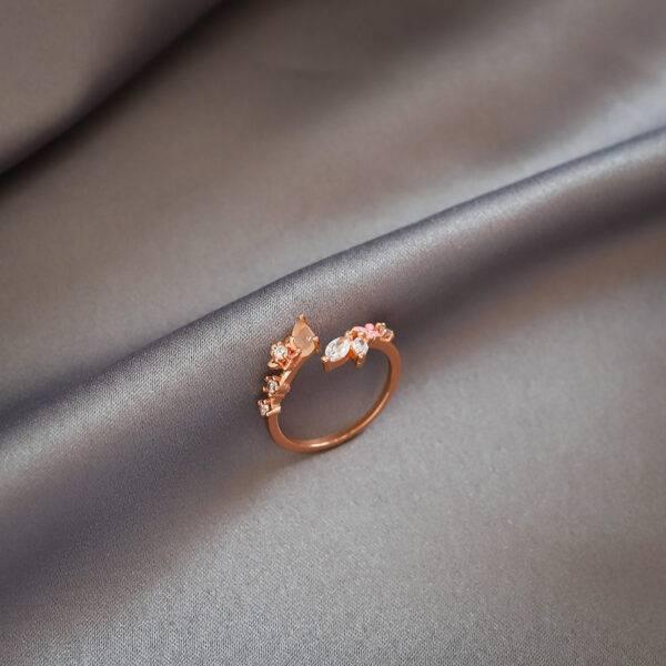 Bague fiançailles fleur diamant