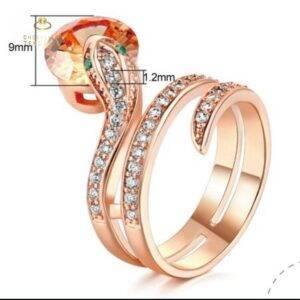Bague serpent or et diamant