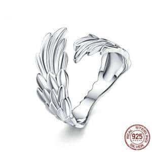 Bague avec des ailes